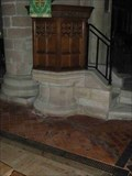 Image for Stone Pulpit Base, St Michael & All Angels, Stoke Prior, Worcestershire, England