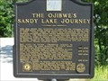 Image for The Ojibwe's Sandy Lake Journey
