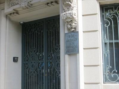 Front door plaque.