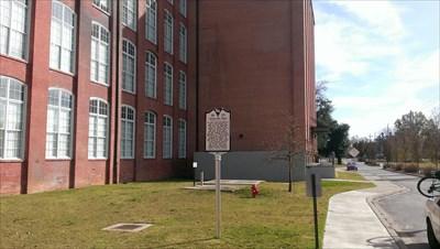 distance shot of historical marker