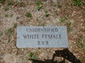Image for Unidentified White Female BBB - Jacksonville, FL