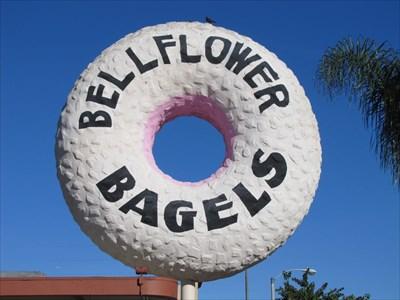 Bellflower Bagels Giant Bagel, Bellflower, California
