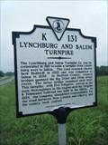 Image for Lynchburg and Salem Turnpike