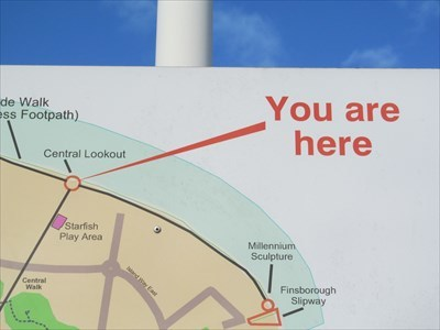 You Are Here, Central Lookout, St Mary's Island, Kent  UK