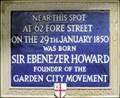 Image for Sir Ebenezer Howard - London Wall, London, UK