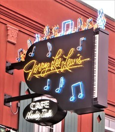Jerry Lee Lewis' Cafe - Neon - Memphis