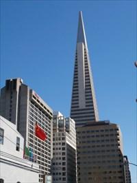 "Mason Street View of Transamerica Building Sunday Strip"" - San Francisco, CA"