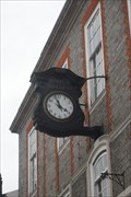 Image for Modern clock on Marks and Spencer Store, 22 Northbrook Street, West Berkshire.