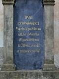 Image for 1842 - The cross plinth - Jaromer, Czech Republic