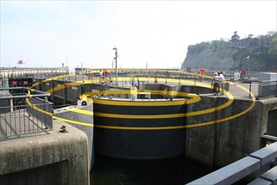 Three Elipses for Three Locks - Cardiff Bay Barrage - Wales.