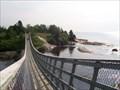 Image for Pont suspendu chute rivière Sault-au-Mouton, Longue-Rive, Qc