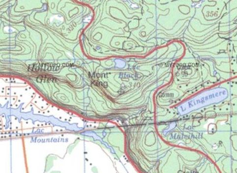The topo map of the area: 340 meters elevation! Quebec Topographic Maps on