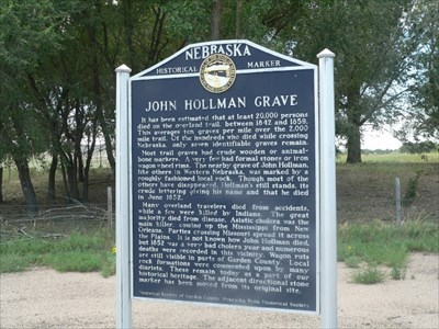 John Hollman Grave Historic Marker in NE