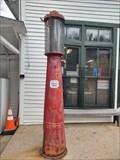 Image for Gilbert & Baker Self Measuring Visible Gas Pump Model 179 ~ Mast General Store ~ Valle Crucis, North Carolina.