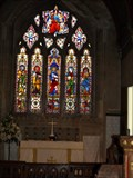 Image for Stained glass windows in St Bartholomew's Yealmpton,Devon,UK