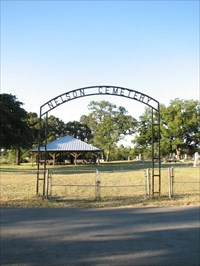 The Texas Historical Marker is visible in the distance, in front of the Tabernacle.