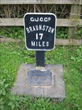 Image for Grand Union Canalside Mileage Marker