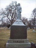Image for Robison Family Zinc Headstone @ Forestview Cemetery in River Forest, IL