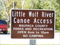 Image for Little Wolf River Canoe Access - Manawa, WI