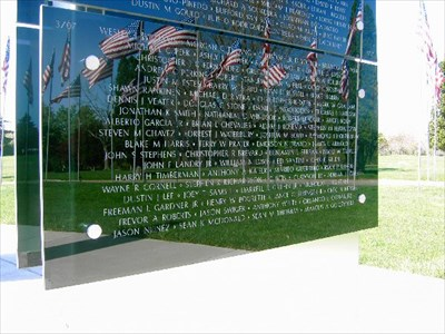 This plaque lists casualties from March 2007 in the War on Terror.