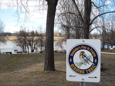 This familiar sign identifies this place as one of the 23 locations on Manitoba