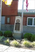 Image for Landscape and Hose Display - Washington Volunteer Fire Company memorial - Washington, MO
