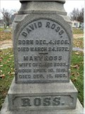 Image for David and Mary Ross - Greenbush Cemetery - Lafayette, IN