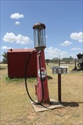 Image for 1920s & 1950s Gas Pumps -- Snyder Heritage Village, Snyder TX