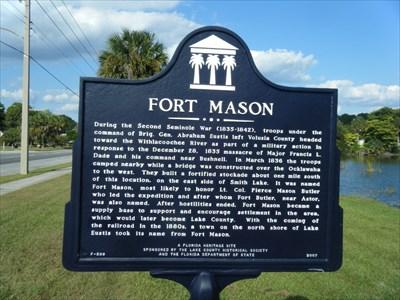 Fort Mason - Florida Historical Markers on Waymarking.com