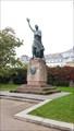 """Image for """"Man walking across the Rhine"""" Joseph-Görres-Monument - Koblenz, RP, Germany"""