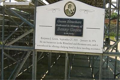 Bleachers named in honor of long time resident