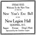 Image for Royal Canadian Legion Branch 94 - Quesnel, BC