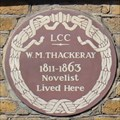Image for William Makepeace Thackeray - Young Street, London, UK