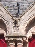 Image for Gargoyle, Catholic Chapel, Baker Street, Aberystwyth, Ceredigion, Wales, UK