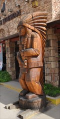 Image for Denny's Wigwam Cigar Store Indian #2 ~ Kanab, Utah