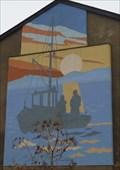Image for Fishing boat mural - Victoria Street, Morecambe, Lancashire, UK.