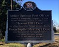 Image for Indian Springs Post Office/Thomas Hill House/Union Baptist Meeting House
