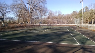 CCC Camp Park Tennis Court, by MountainWoods
