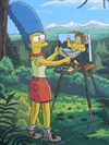 Marge Painting Homer as She Sees Him, Springfield, Oregon