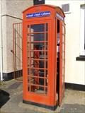 Image for Red Kiosk, near Level Crossing, Gaerwen, Ynys Môn, Wales.