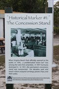 Image for Historical Marker #1: The Concession Stand