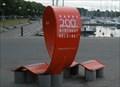 Image for Happy 200th Birthday Helsinki Red Roll Bench - Helsinki, Finland