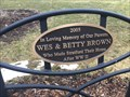 Image for Wes & Betty Brown Bench - Stratford, ON