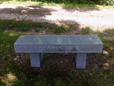 Ralph Fare dedicated bench, by MountainWoods
