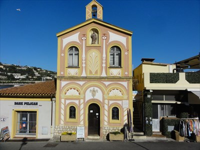 The chapel painted by Cocteau opposite the mural