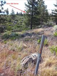 View of AZ mark looking NW towards ALTON series