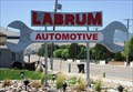 Image for Huge Elevated Wrench in front of Labrum Automotive Center in Riverton, Utah USA