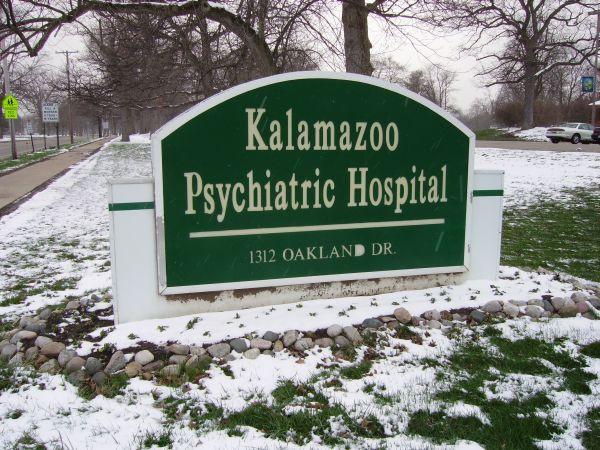 Kalamazoo Psychiatric Hospital sign