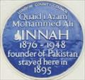 Image for Muhammed Ali Jinnah - Russell Road, London, UK