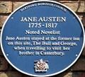 Image for Jane Austen - High Street, Dartford, Kent, UK.